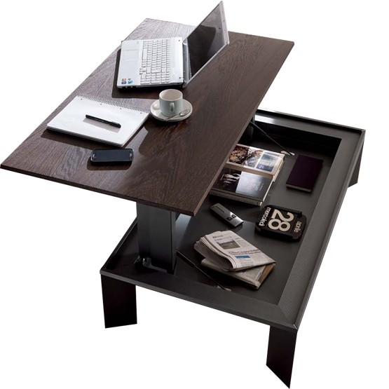 table basse relevable plateau repas multifonctions metrino. Black Bedroom Furniture Sets. Home Design Ideas