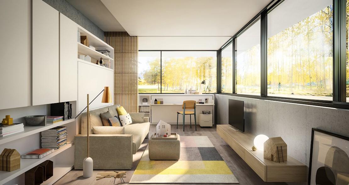 lit escamotable avec canap accoudoirs larges et couchage transversal 150x200. Black Bedroom Furniture Sets. Home Design Ideas