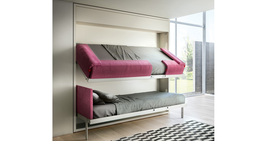 lit escamotable superpos s jumeaux s curis s kali duo clei italie. Black Bedroom Furniture Sets. Home Design Ideas