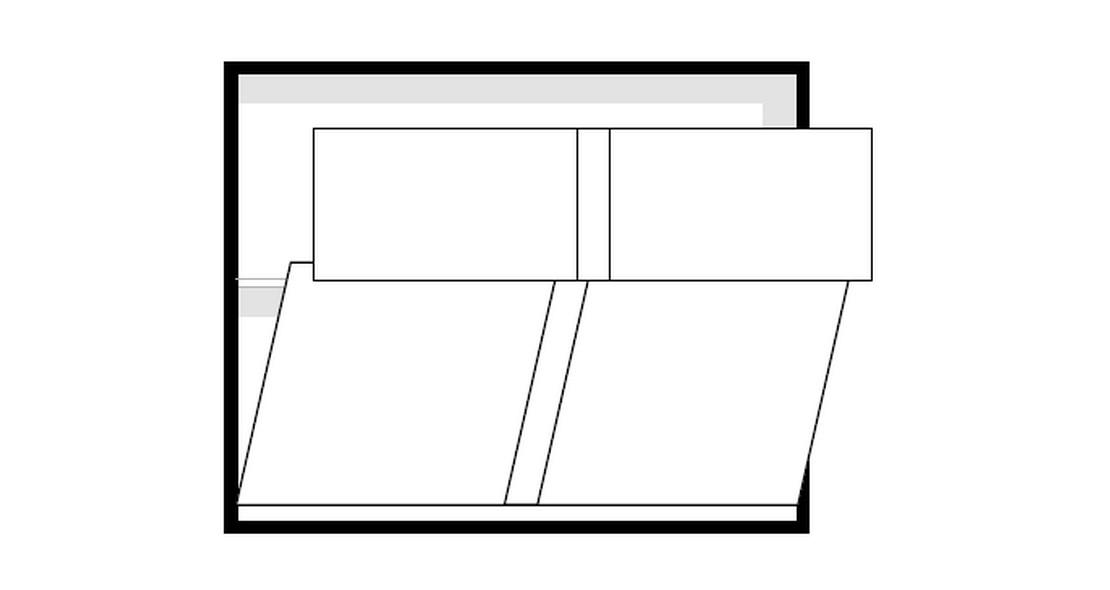 Lit escamotable Melamix transversal 120x190