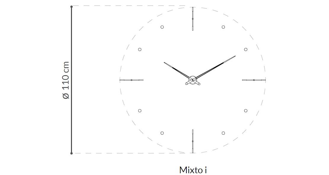 Horloge murale Mixto i nomon petit modèle