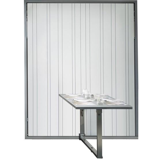 Lit escamotable couchage 150x200 avec table repas intégrée