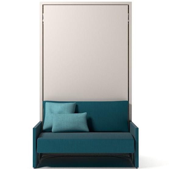 Lit escamotable avec canapé accoudoirs et couchage 115x200
