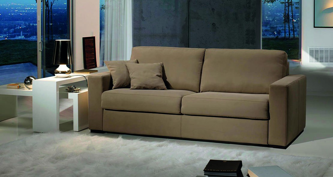 Canapé Convertible Design Fiore matelas 140 épais 13 cm