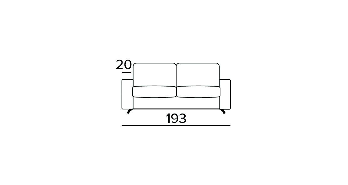 Canapé Convertible Ambrogio Class2 matelas 140 épais 17 cm