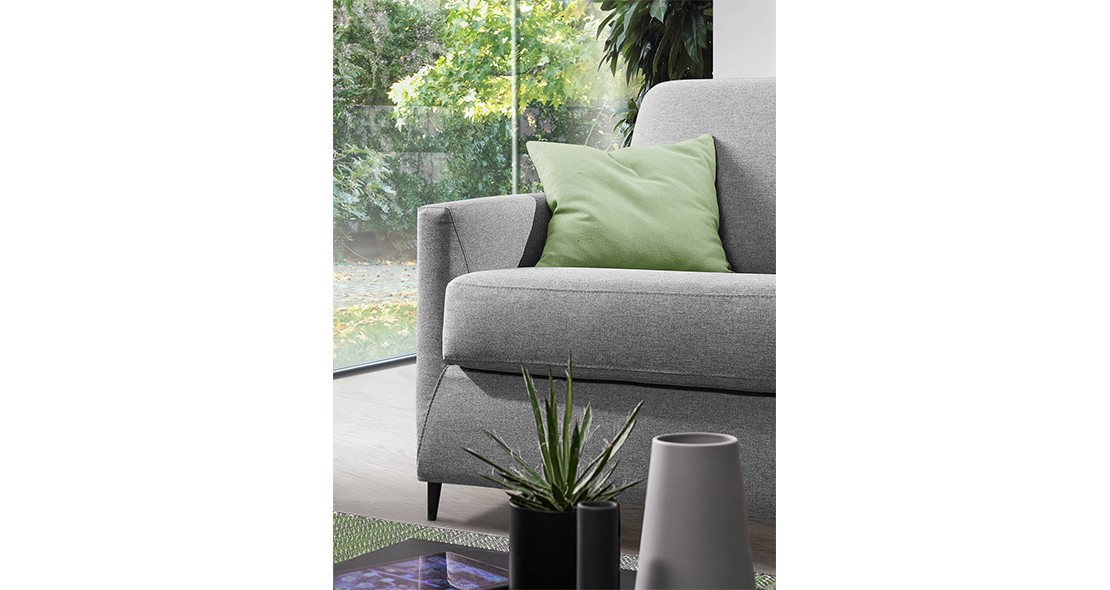 Canapé Convertible Design Teo matelas 140 épais 15 cm
