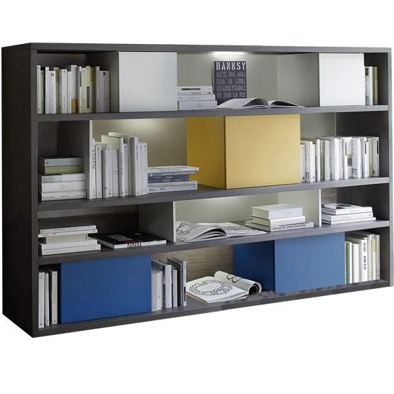 meuble biblioth que basse personnalisable sangiacomo lampo modo italie. Black Bedroom Furniture Sets. Home Design Ideas